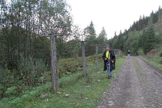 Droga przy granicy ukraińsko-rumuńskiej.