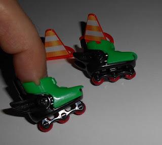 patines en linea para dedos de kinder sorpresa