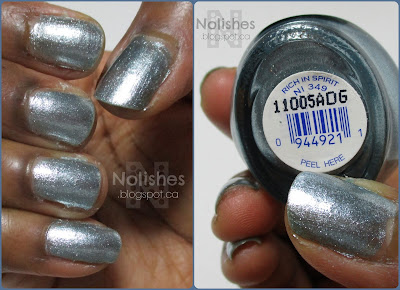 Swatch of the polish, and a bottle shot of the label