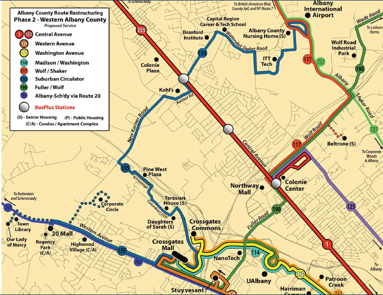 Albany: The Pedestrian Perspective: CDTA Route Restructuring