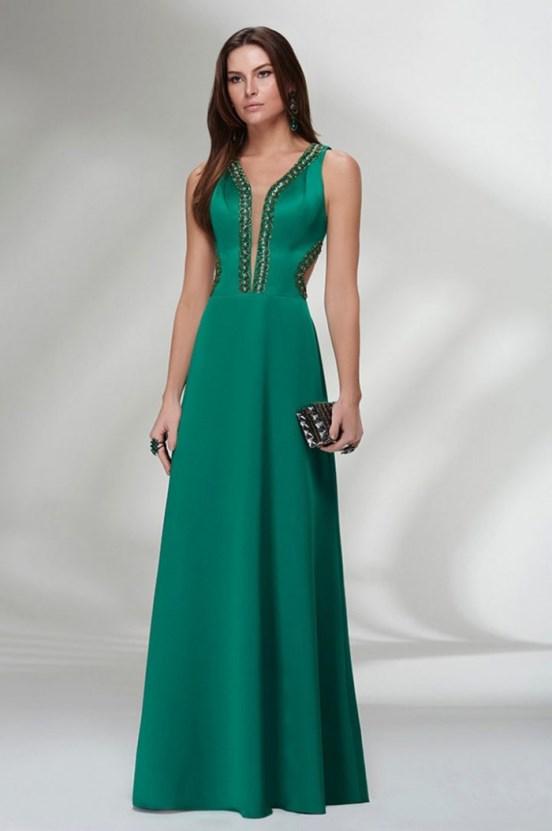 Vestido verde de madrinha de casamento
