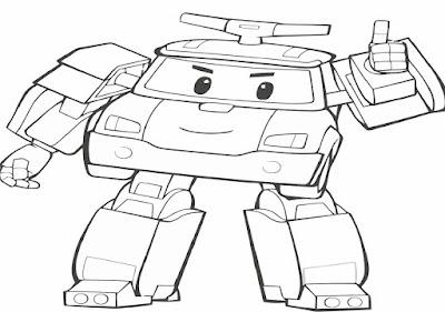 Gambar  Robot  Untuk Mewarnai  Download Belajar Online