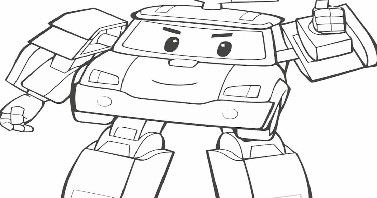 belajar mewarnai gambar robot terbaru