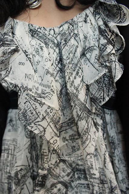 DVF Passport Print Regazza Dress