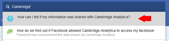 Facebook Cambridge