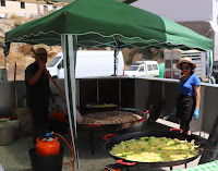 Huge Paella cooking at an Andalucian Fair