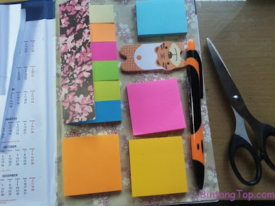 Cara Membuat Dasbor dan Kantong Mini dalam Buku / Agenda :