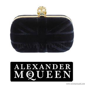 Crown Princess Victoria style Alexander McQueen Velvet Britannia Clutch