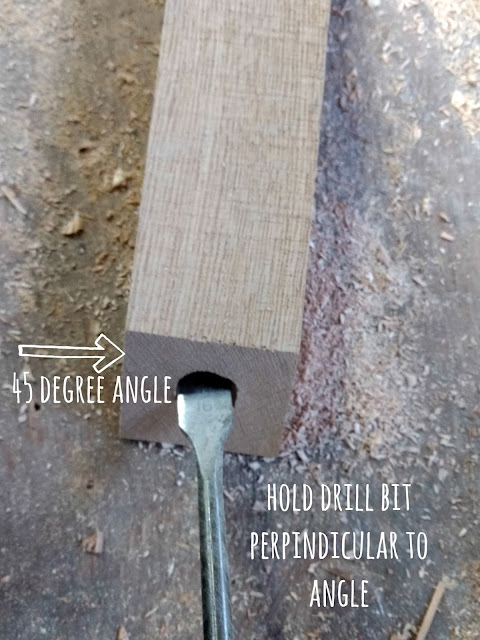 make a jig to drill holes at an angle
