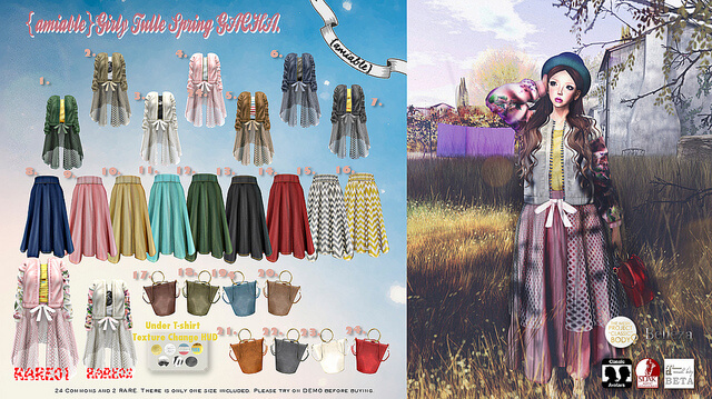 {amiable}Girly Tulle Spring GACHA@ the Chapter Four March Round.