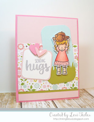 Sending Hugs card-designed by Lori Tecler/Inking Aloud-stamps from Neat and Tangled