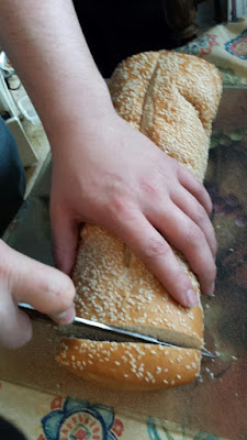 Sesame french bread to toast on the grill