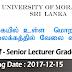 Senior Lecturer Grade 1&11 University Of Moratuwa Sri  Lanka