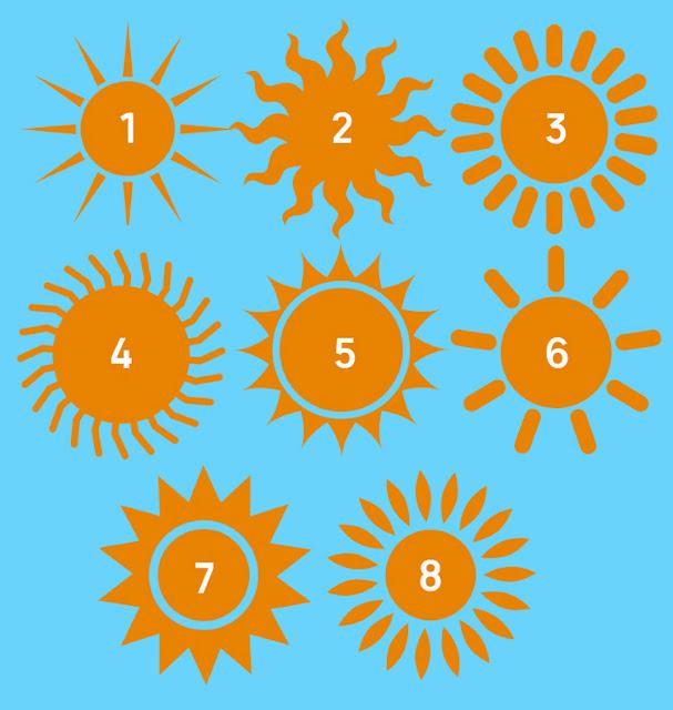Выбери солнышко от 1 до 8 и узнай о скрытых чертах своей личности.