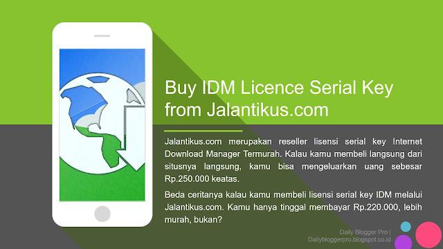 Buy IDM via Jalantikus.com