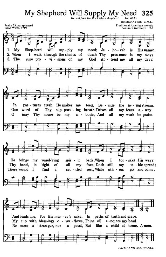 Lyric just as i am without one plea lyrics : Songs of Praises: My Shepherd Will Supply My Need