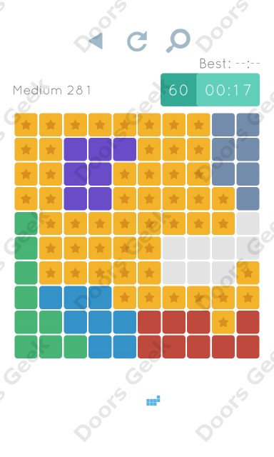 Cheats, Walkthrough for Blocks and Shapes Medium Level 281
