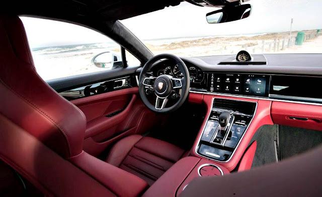 Porsche Panamera 4 E-Hybrid 2018 interior red