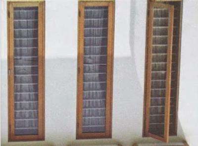 jendela minimalis dari kayu jati