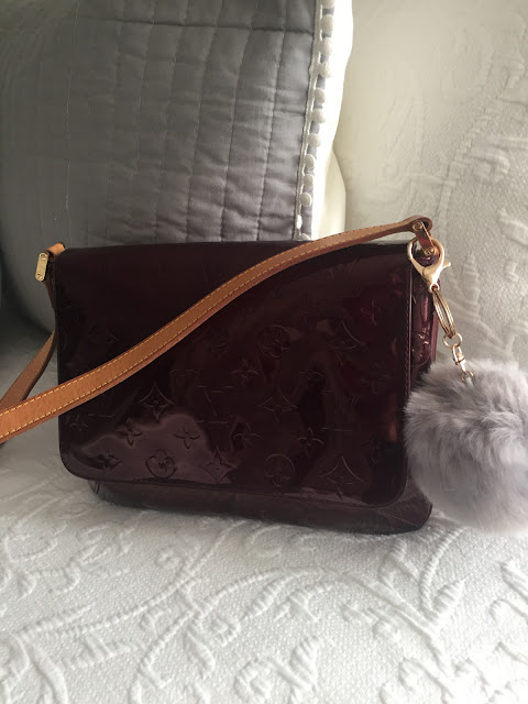 Dyed Louis Vuitton Vernis bag, Patent leather