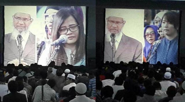 Allahu Akbar, Takbir Bergemuruh Setelah Zakir Naik Bimbing 4 Warga Bandung Ucapkan Kalimat Syahadat