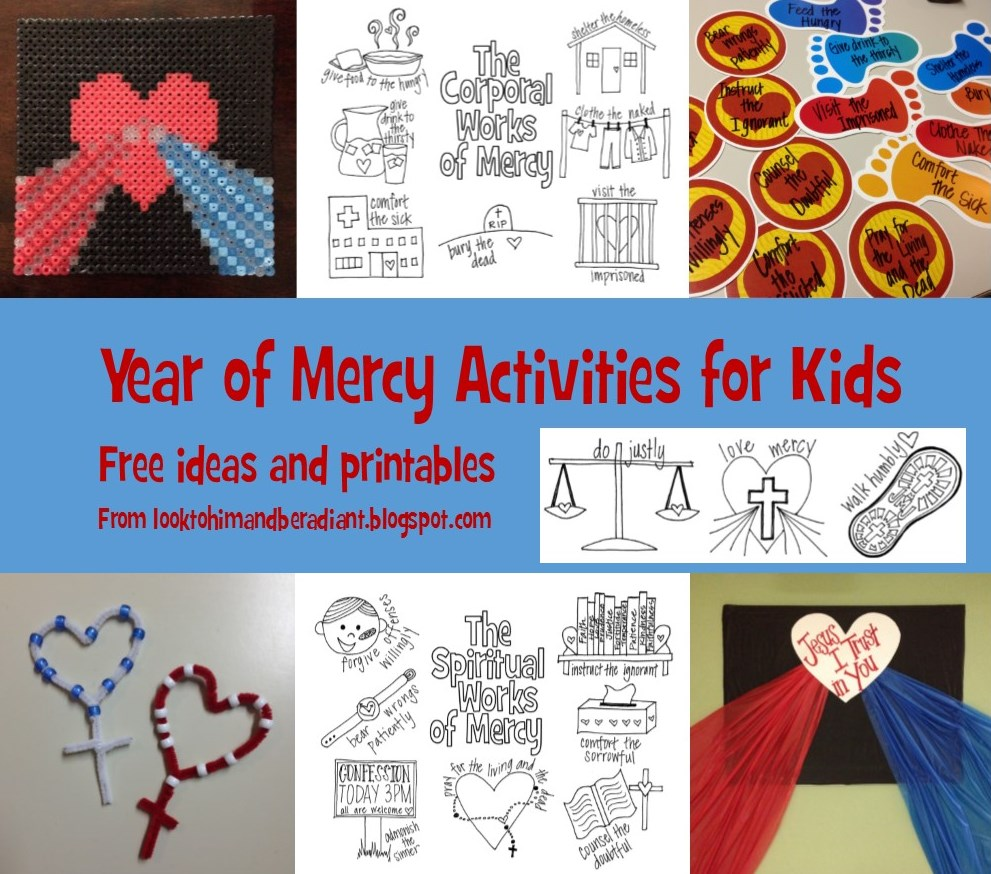 Look to Him and be Radiant: Year of Mercy Resources- All the ideas ...