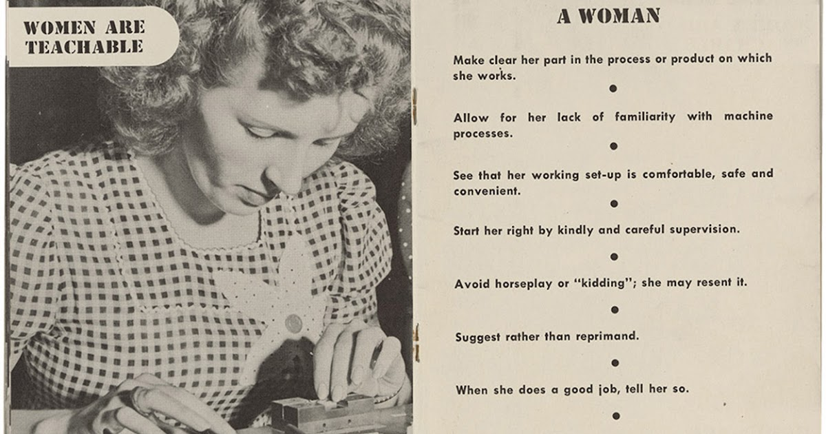 ?Women Are Teachable?: This 1940s Booklet to Assist Male Bosses in Supervising Their New Female Employees