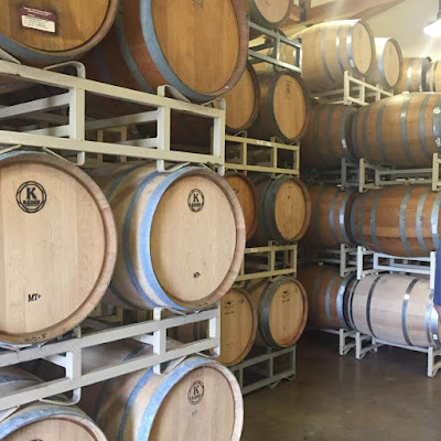 Barrel aging wine at Truro Vineyards
