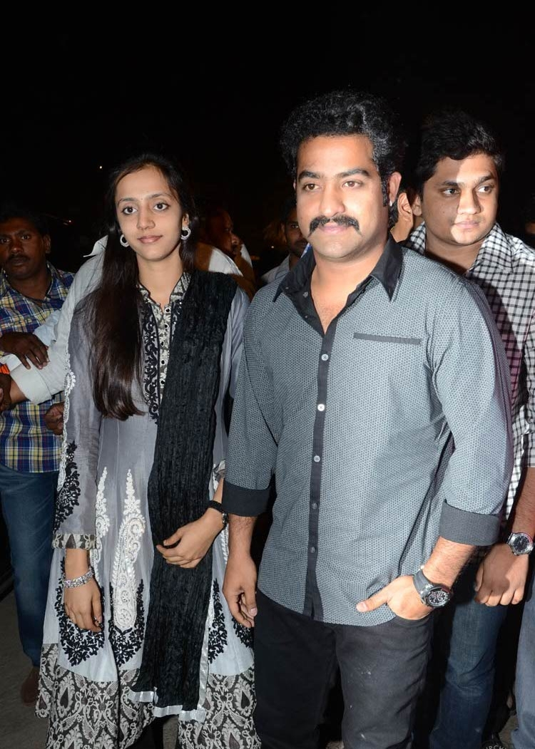 South Mp3 Jr Ntr And His Wife At Dhammu Audio Launch Pics-3351
