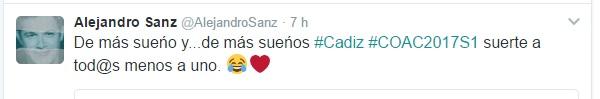 Pullita de Alejandro Sanz a....
