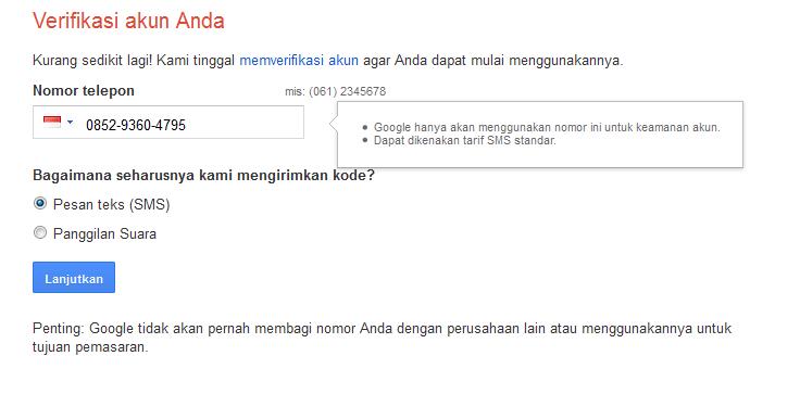 cara buat email digoogle