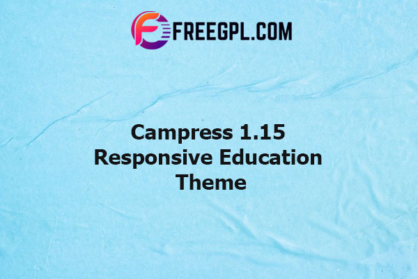 Campress Responsive Education Theme Nulled Download Free
