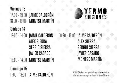 Yermo en el Salón del Cómic de Barcelona.