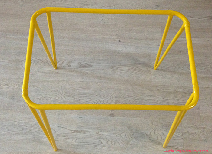 yellow hairpin legs upcycling