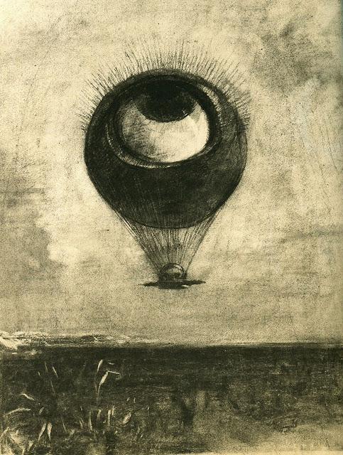 オディロン・ルドン、不気味な「目」を描いた画家の作品、10枚【a】 眼=気球 1878