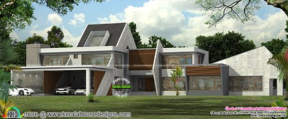 Ultra modern contemporary house in Kerala