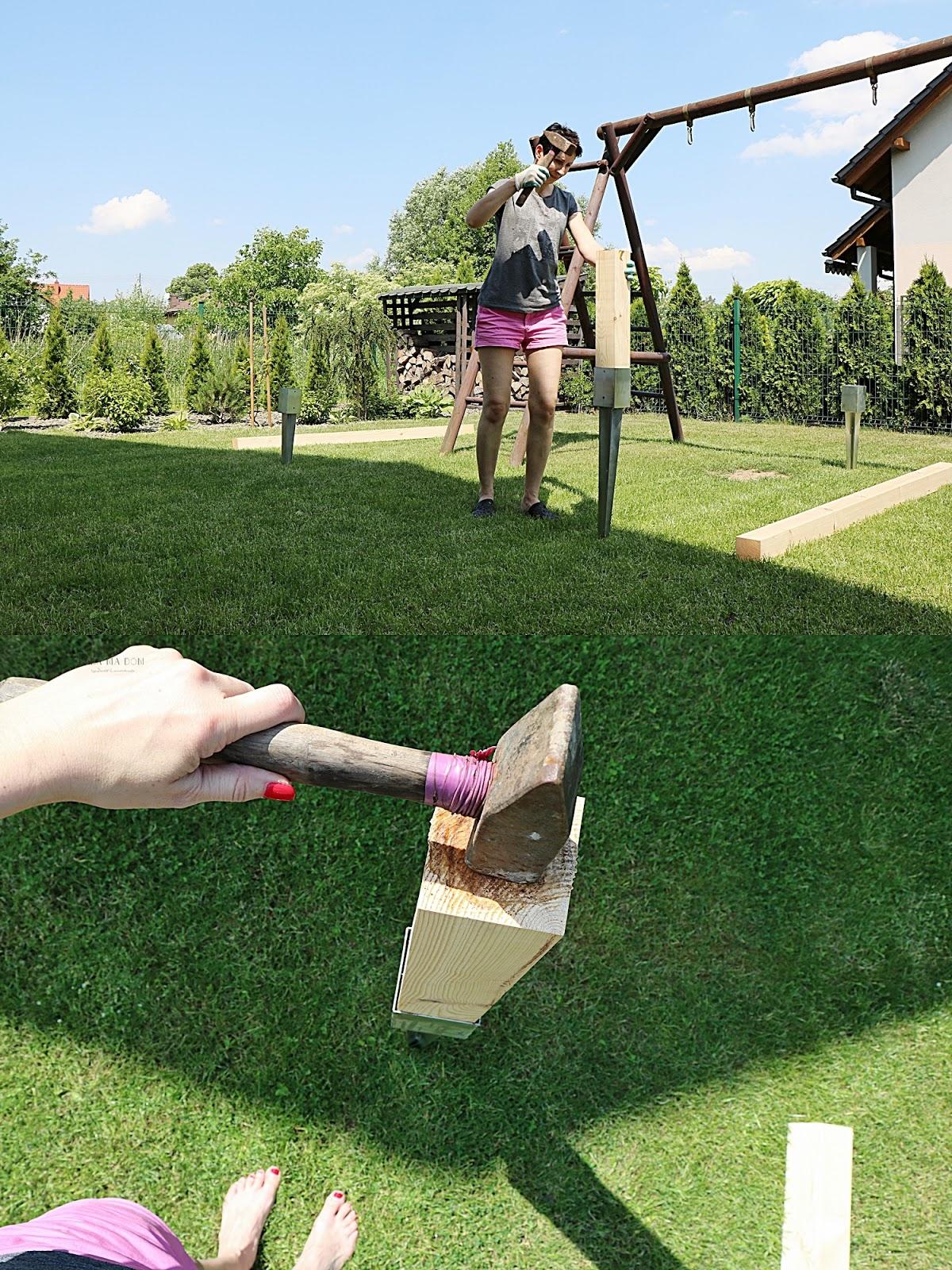 babamadom, DIY, do it yourself, doityourself, featured, hamak, majsterkowanie, metamorfozy, ogród, vidaron, zrób to sam, dzieci, prezent, huśtawka, drewno,