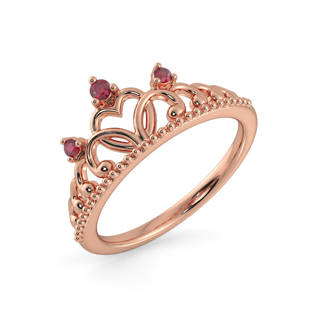 The Jorja Crown Ring -BlueStone,10,049