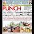 NIGERIA NEWSPAPERS: TODAY'S THE PUNCH NEWSPAPER HEADLINES [9TH JANUARY, 2018].