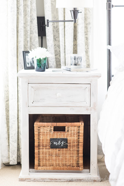 Before and After: Bedside Tables Whitewashed with Chalk Paint