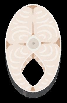 魚の輪切りのイラスト(白身)