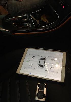 Hiện thị thông số áp suất lốp đẹp mắt trên Ipad