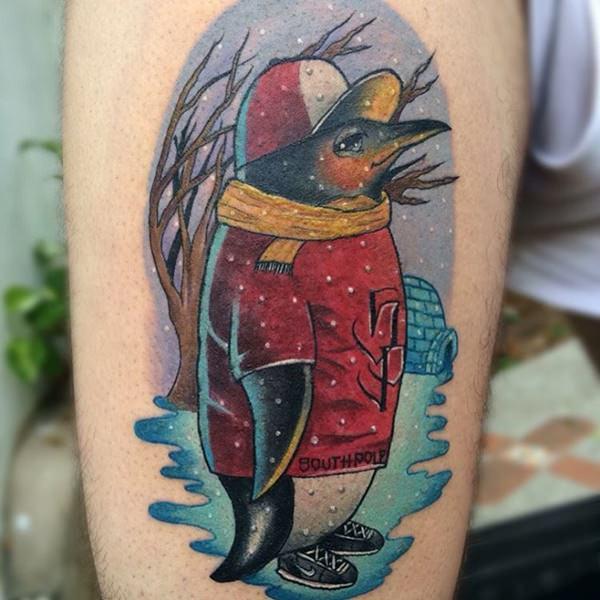 Tatuagem de pinguim