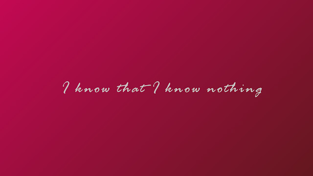 I know that I know nothing HD wallpaper - magenta