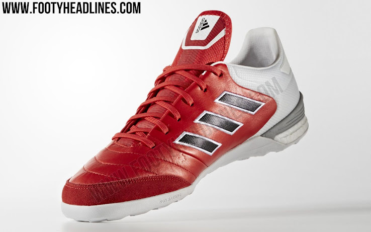 watch 5ac3a 72c59 In order to offer improved shock absorption, Adidas Boost tech is used in  the rear of the sole of the Red Limit Copa Tango 17.1 indoor and turf boots.