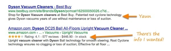 rich Snippets with price
