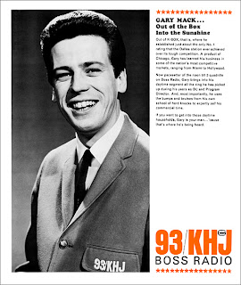 Gary Mack 1965 KHJ Sales Sheet