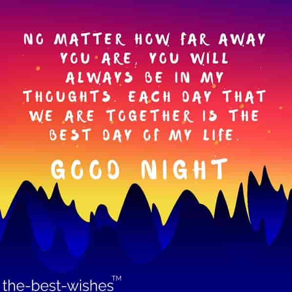 good night picture message