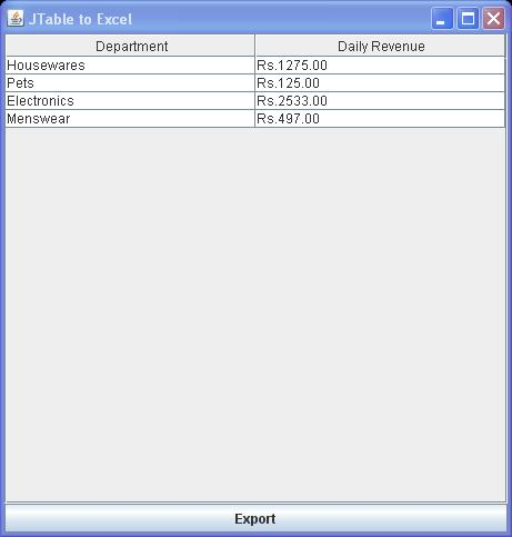 Nirav Raval's Blog For Java Developer: Java Swing -Export JTable To