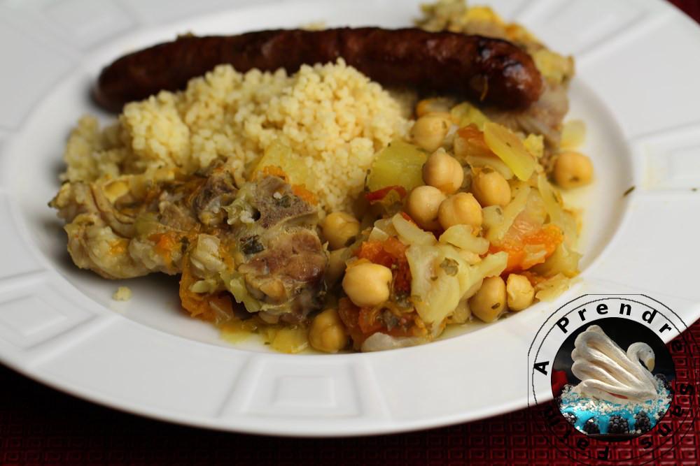Couscous aux 7 légumes (Kasksou seb'khdari)